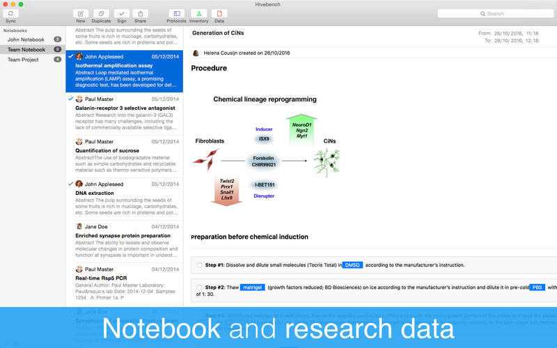 Hivebench – Lab Notebook for Mac