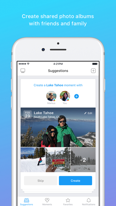 Moments - private albums with friends and family Screenshot