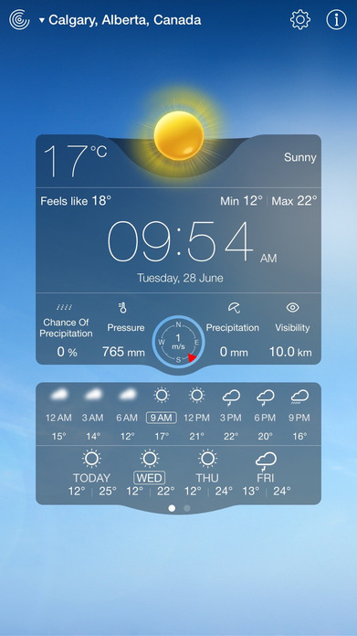 Weather Live Free - Weather for Canada & the world Screenshot