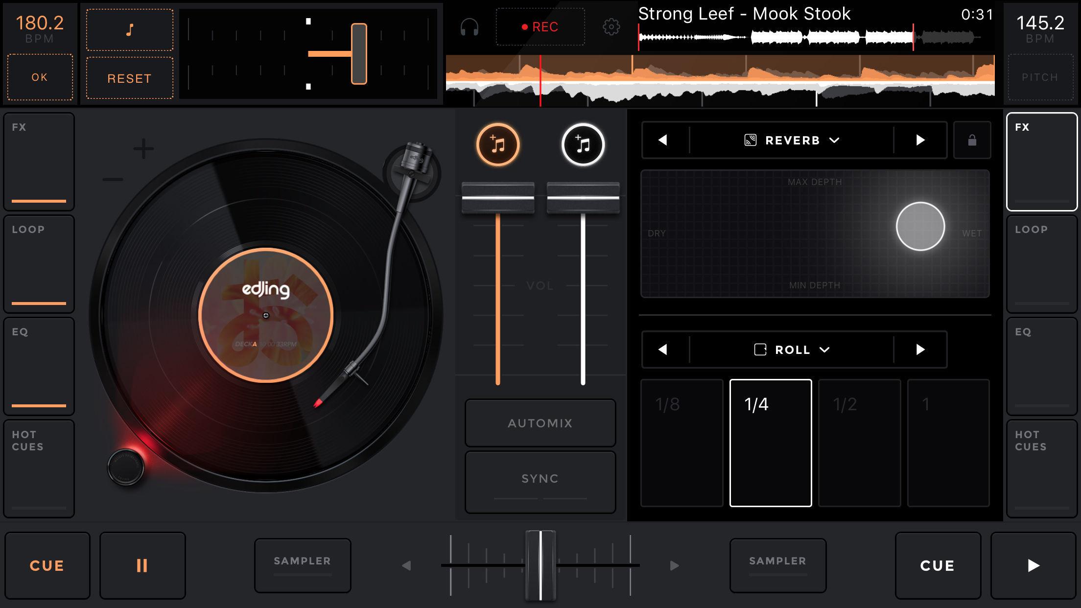 edjing Mix:DJ turntable to remix and scratch music Screenshot