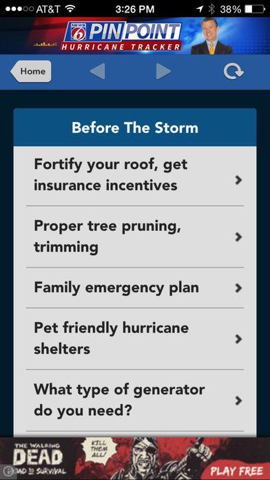 News 6 Pinpoint Hurricane Tracker Screenshot