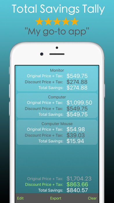 coupon calculator app for ipad