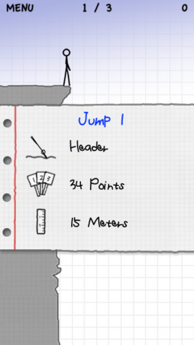 Stickman Cliff Diving Screenshot
