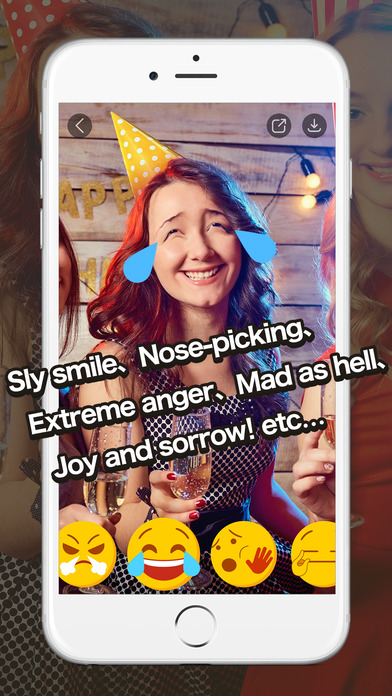 HAHAmoji - Funny Face Camera and GIF Emoji Maker App Report