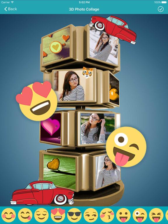 3d photo collage maker 3d frames photo editor by pravin gondaliya. Black Bedroom Furniture Sets. Home Design Ideas