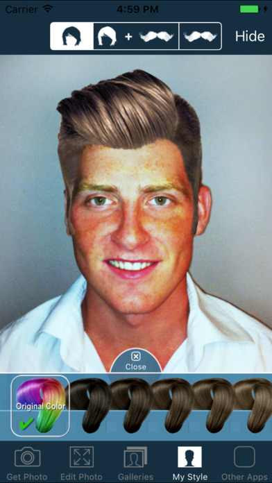 Cool Hair And Beard Styles Try On Hairstyles For Men On The App Store Hairstyles For Women Draintrainus