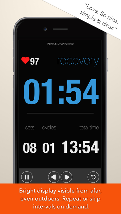 Tabata Stopwatch Pro - Tabata Timer and HIIT Timer Screenshot