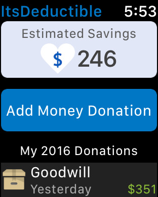 Printables Itsdeductible Worksheet itsdeductible charity donation tracker on the app store iphone screenshot 1