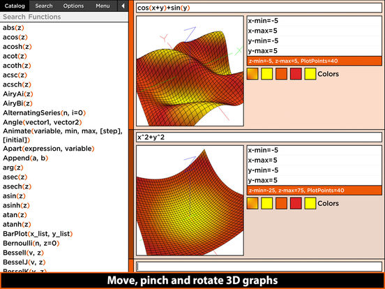 MathStudio Express - Symbolic graphing calculator Screenshot