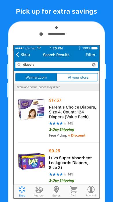 Walmart online shopping app