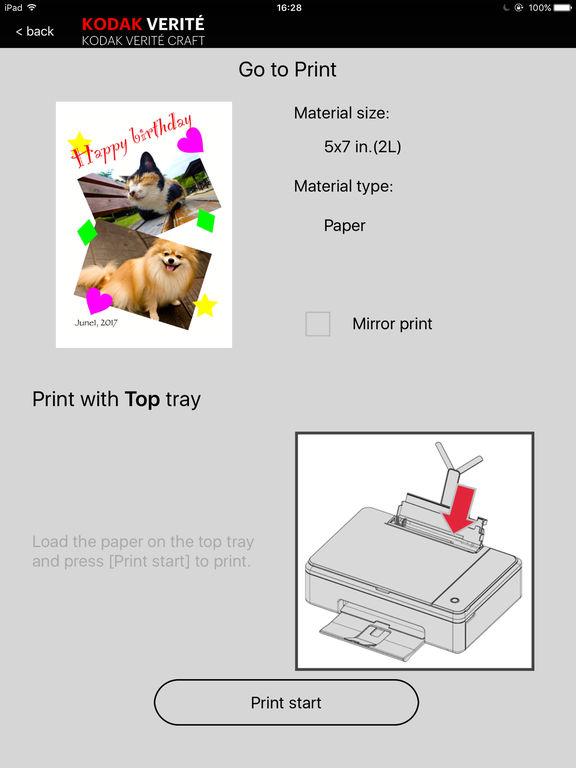 kodak verite craft app sign ipad