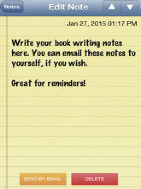 application for writing a book