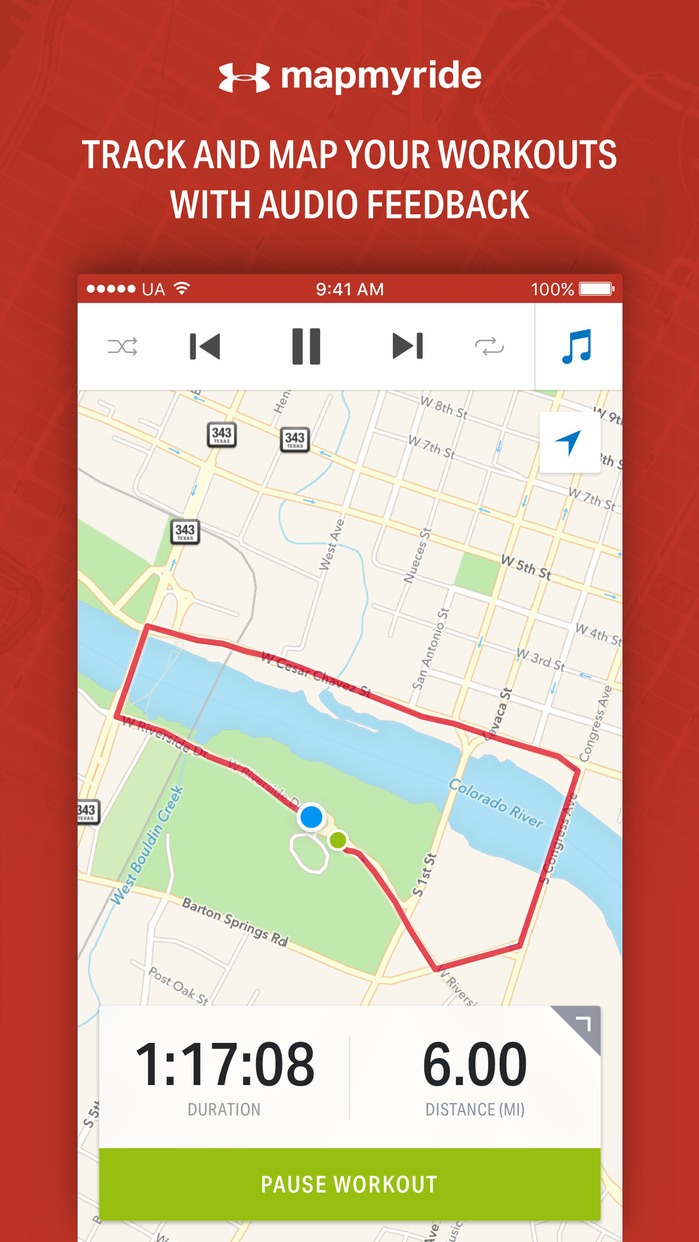 Map My Ride - GPS Cycling & Route Tracker Screenshot