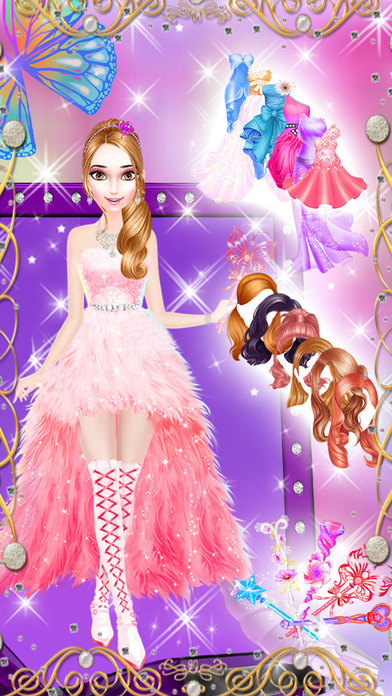 Makeup Salon : Little Princess Party Makeover - Girls Make up, Dress ...