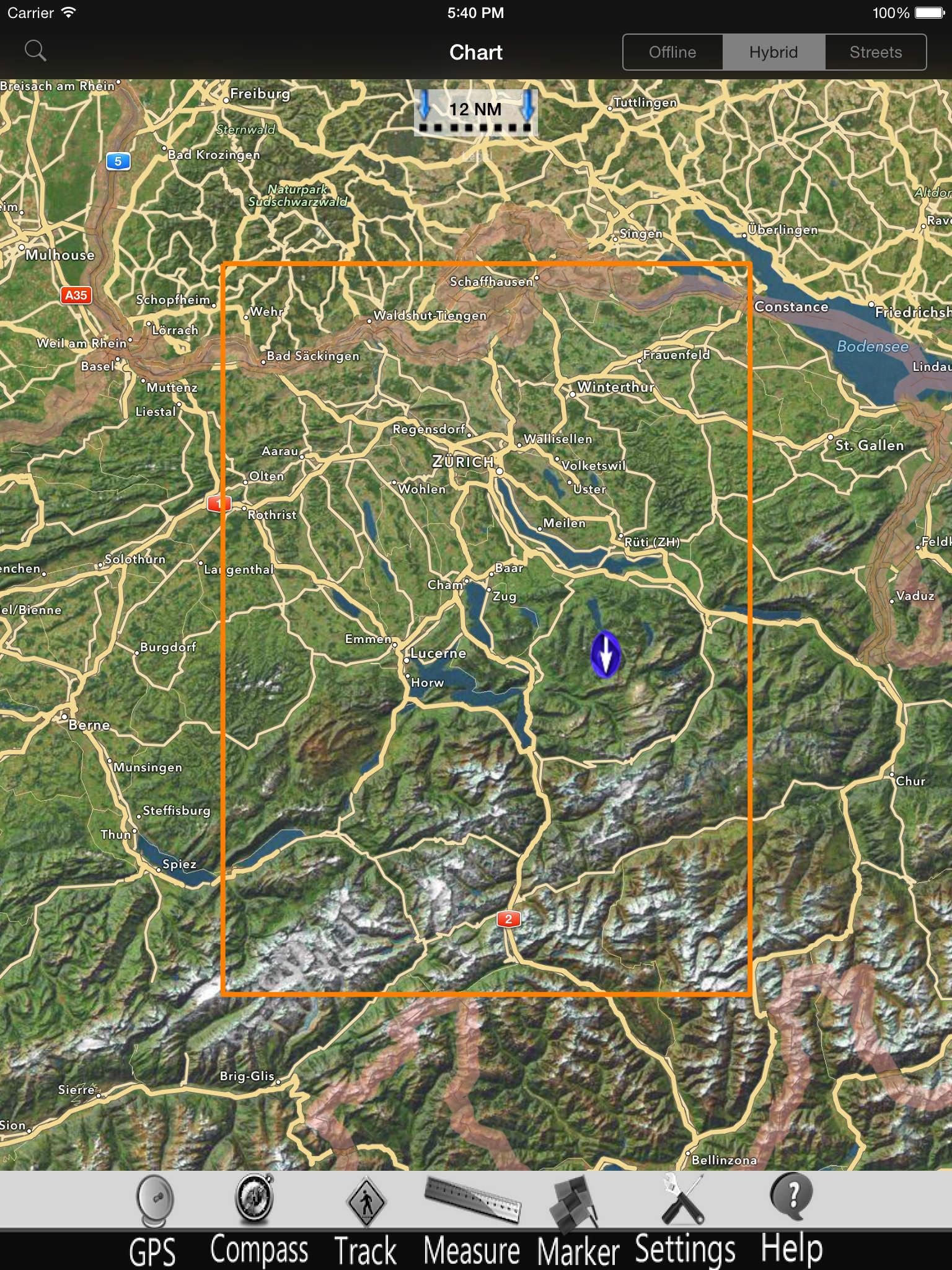 Zug - Aegeri Lakes Charts Pro screenshot-4