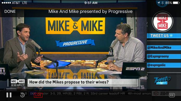 ESPN: Get scores, news, alerts & watch live sports Screenshot