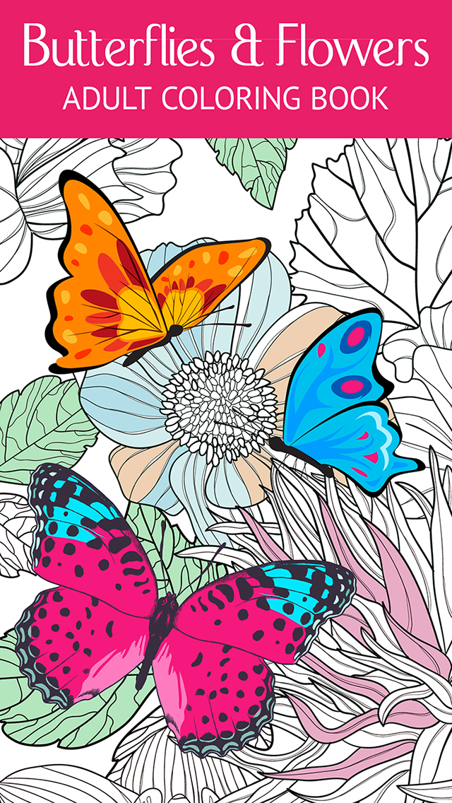 Butterfly Flower Art Therapy Free Fun Coloring Games