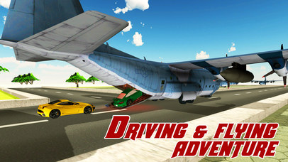 Cargo Airplane Car Transporter – Drive mega truck & fly plane in this simulator game Screenshot on iOS