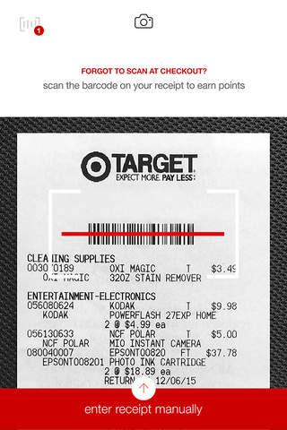Screenshot of redperks by Target