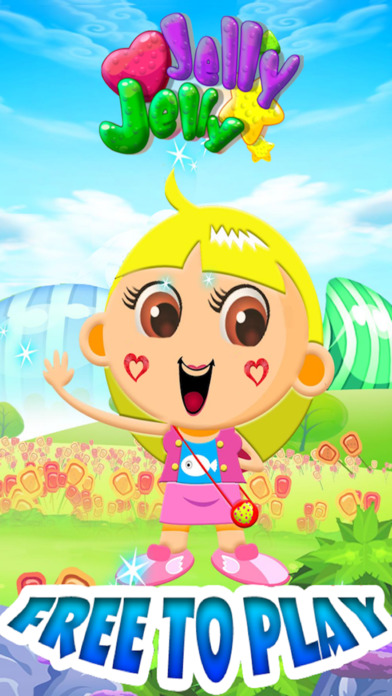 Candy Jelly Match 3 Crush Jelly Game-Addictive Puzzle game for boys and girls Screenshot on iOS