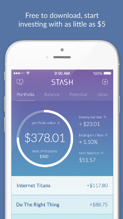 Stash Invest - Start saving and investing with just $5 and learn as you go. Screenshot