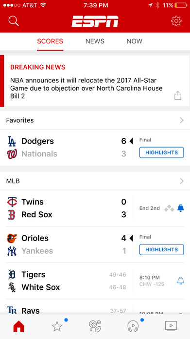 ESPN - Get scores, news, and watch live sports Screenshot