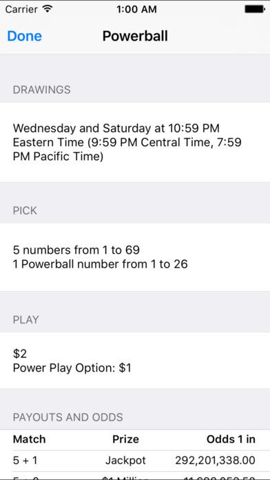 Lotto Results - Mega Millions Powerball Lottery Screenshot