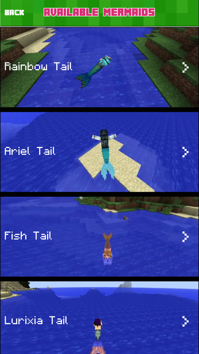 MERMAID MOD - Reality Mermaids Tail Mods Free Guide (with Shark) for Minecraft PC Edition Screenshot on iOS