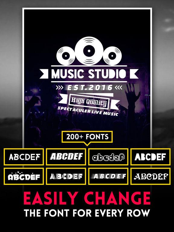 Logo Swag - Instant generator for logos, flyer, poster & invitation design Screenshots