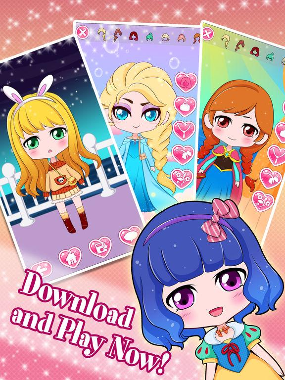 App Shopper: Chibi Anime Creator Dress-Up Games For Girls