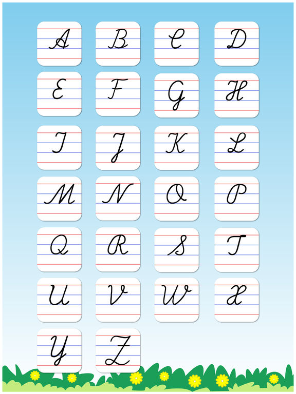 Cursive Writing A To Z Capital Letters In Cursive
