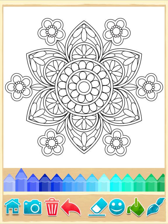 mandala coloring pages game apprecs