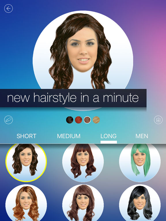 Miraculous Hair Makeover New Hairstyle And Haircut In A Minute On The App Store Short Hairstyles Gunalazisus