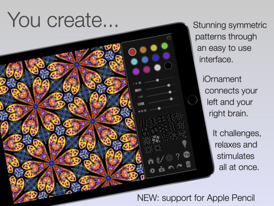 iOrnament: draw creative geometry art Screenshot