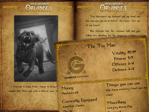Gamebook Adventures 1: An Assassin in Orlandes Screenshot