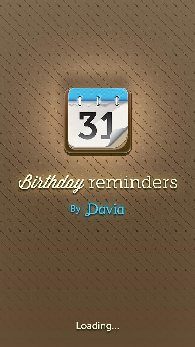 Birthday Calendar by Davia