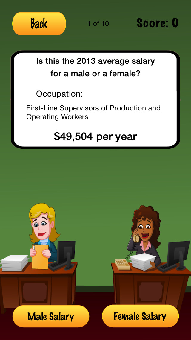 Gender Gap Screenshot on iOS