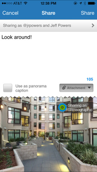 screen322x572 How-To Take 360 degree photos and upload on Facebook with iPhone [Apps]