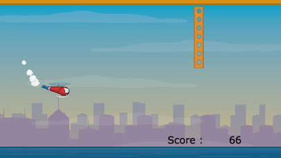 Fly The Copter - FREE Helicopter Game Screenshot on iOS