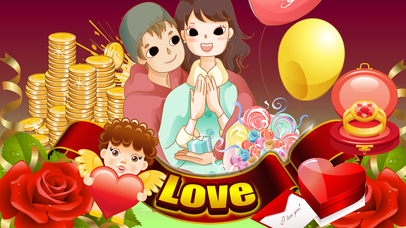 Amazing Heart of Fire Casino Slots - Love Craze Roulette, Win Big Blackjack & V-Day Slot Machine Free Screenshot on iOS