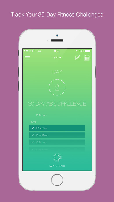 30 Day Fitness Challenges Screenshot