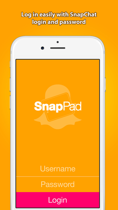 SnapPad – save and send SnapChat pics and videos Screenshot