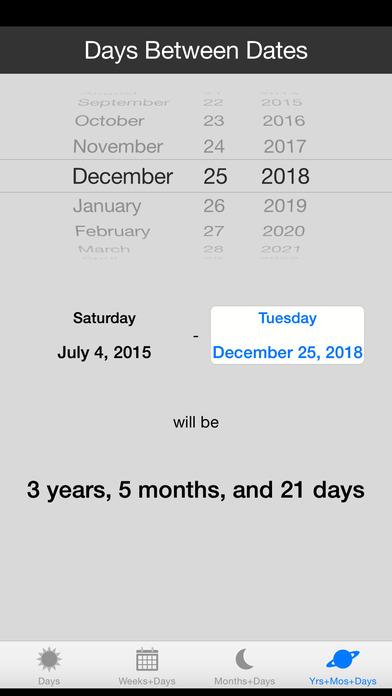 Days between dates