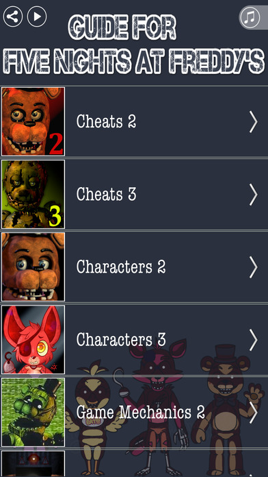 Full Guide for FNAF 2 & FNAF 3 - Crafty Guide With Cheats