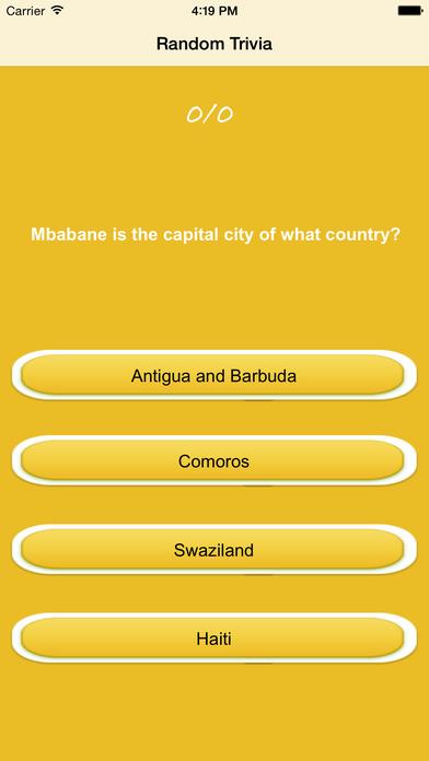 Random Trivia and Quiz