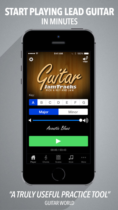 Guitar Jam Tracks - Scale Trainer & Practice Buddy Screenshot