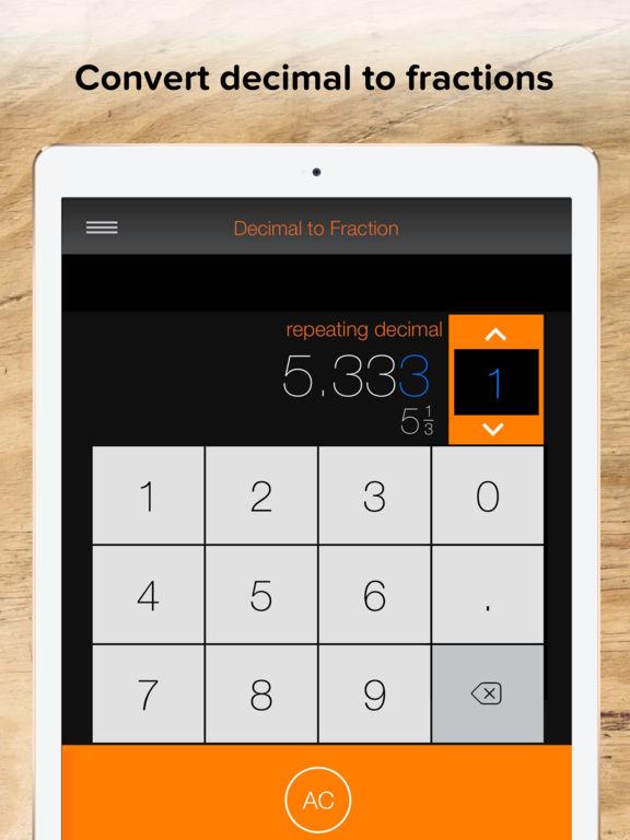 Fraction Calculator + Decimals to Fractions - AppRecs