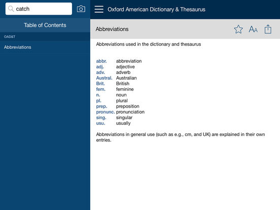 Oxford American Dictionary and Thesaurus :: iPAHub