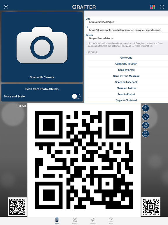 Qrafter - QR Code Reader and Generator IPA Cracked for iOS