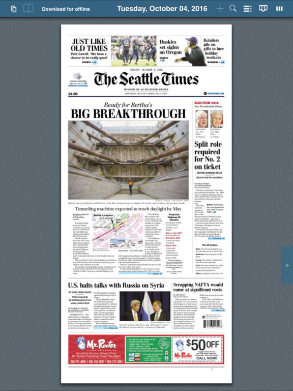 The Seattle Times Print Replica On The App Store